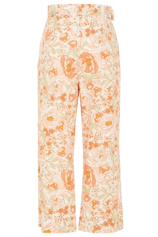 LINEN BLEND PANT in colour PEACH MELBA