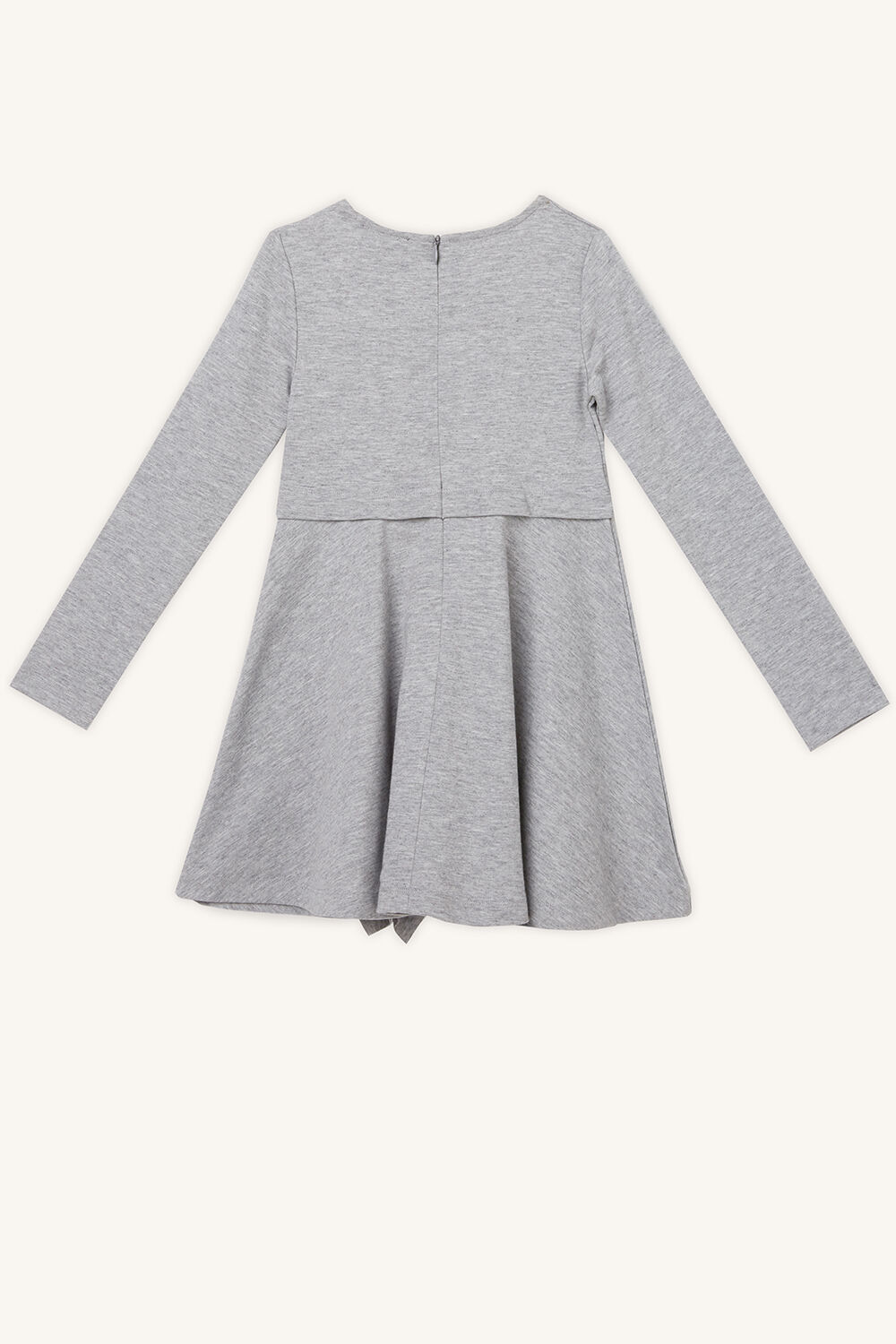 DASHA RUFFLE DRESS in colour MOONBEAM