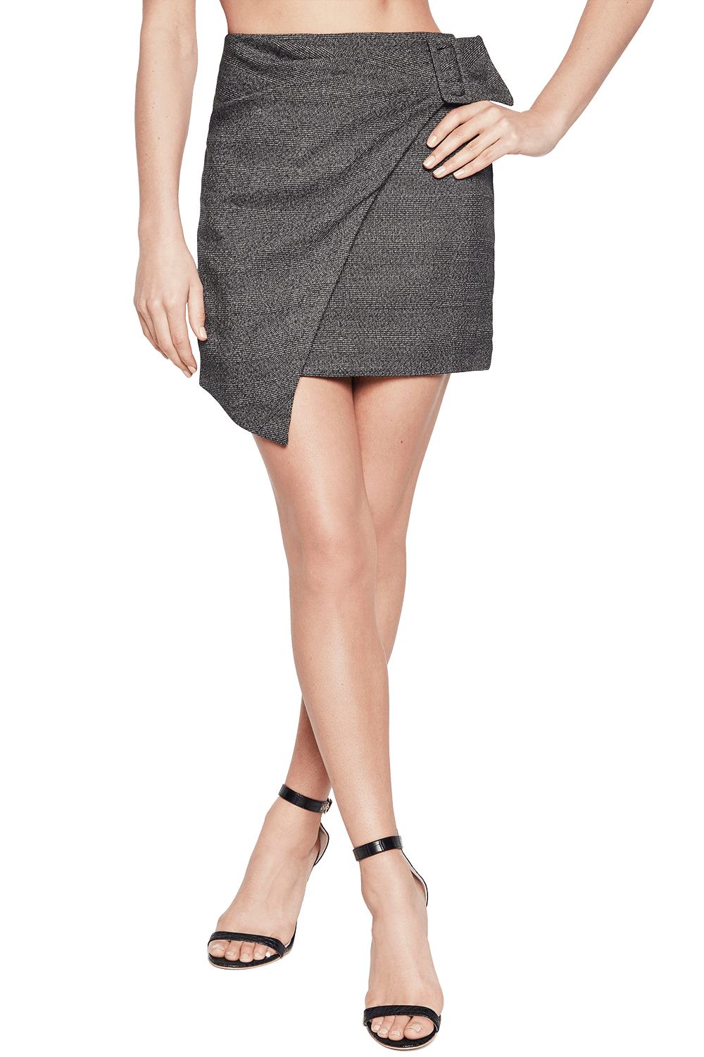 ELLE WRAP SKIRT in colour EBONY