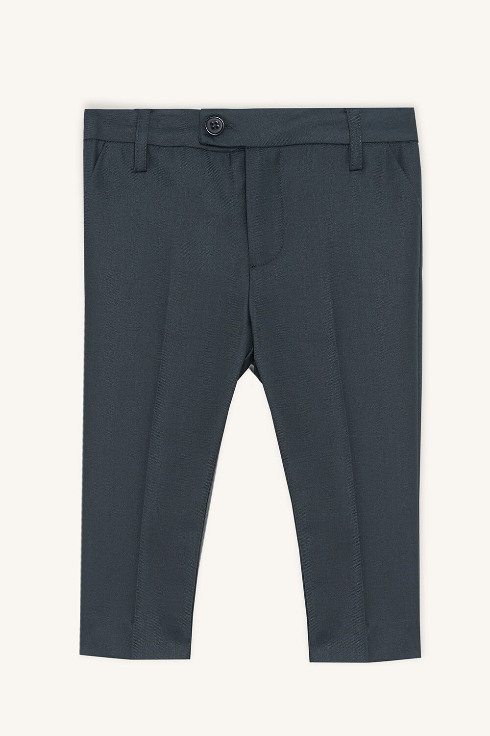 baby boy classic suit pant in colour SYCAMORE