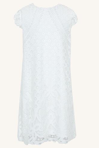 SOPHIA SHIFT DRESS in colour CLOUD DANCER