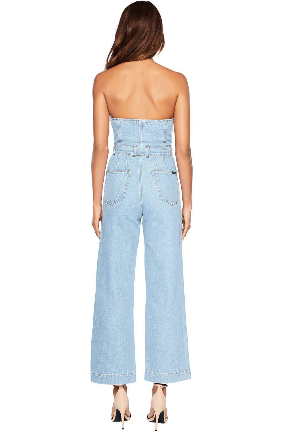 WIDE LEG DENIM ROMPER in colour CITADEL