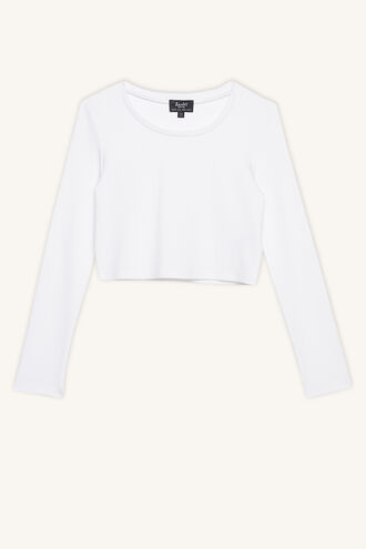 NINA SCOOP L/S TEE in colour CLOUD DANCER