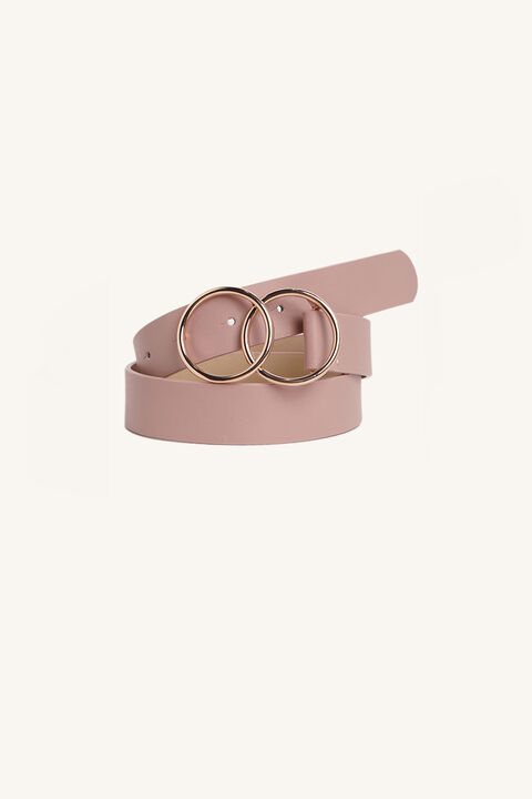 DOUBLE RING BELT in colour PINK CARNATION