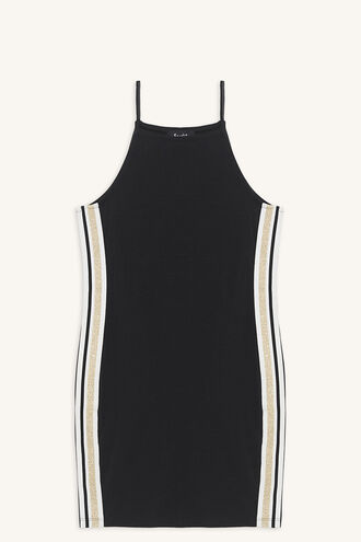 RAF KNIT DRESS in colour JET BLACK