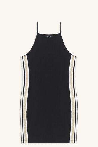RAF KNIT DRESS in colour JET BLACK