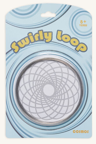 MAGIC SWIRLY LOOPS in colour SILVER