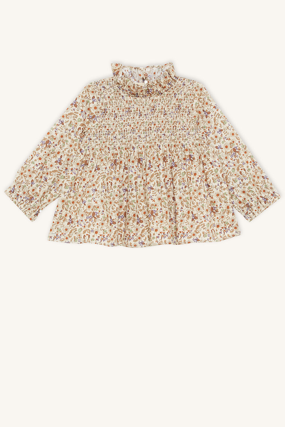 PAIGE SHIRRED TOP in colour BIRCH