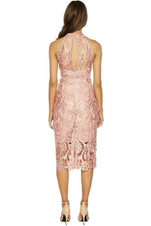 ISA LACE DRESS in colour BRIDAL ROSE