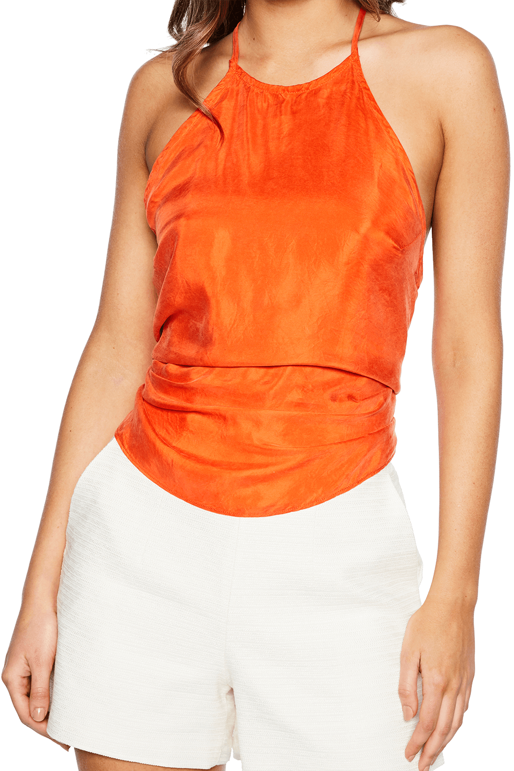 STEVIE TIE BACK CAMI in colour FLAME