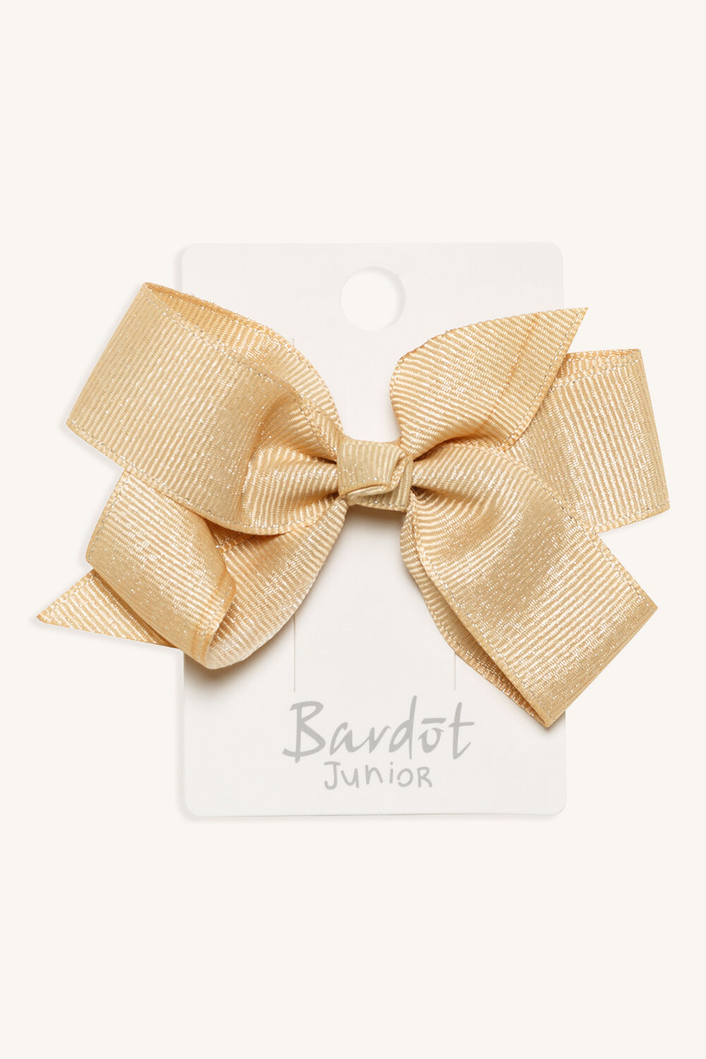 LARGE BOW HAIR CLIP in colour GOLD EARTH