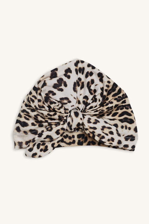 LEOPARD BOW HEADWRAP in colour ANTELOPE