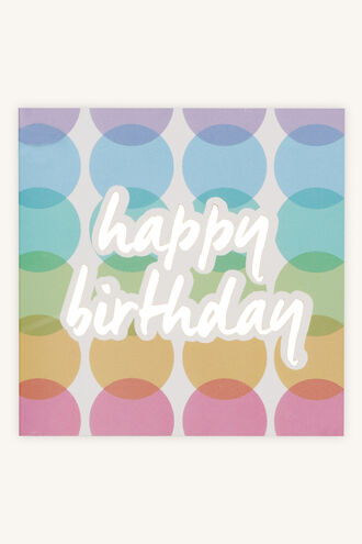 COLOUR HAPPY BIRTHDAY GIFT CARD in colour BRIGHT WHITE