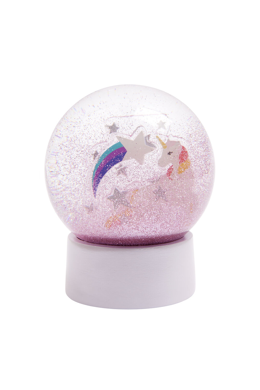 Glitter Globe Stardust in colour BRIGHT WHITE