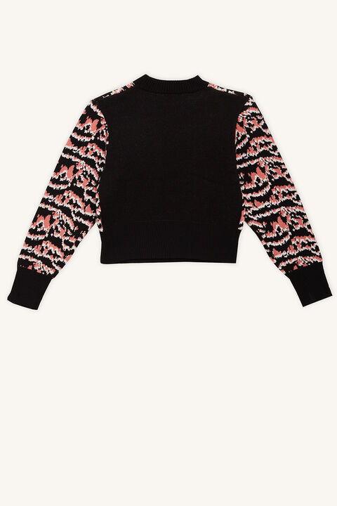 ROAR INTARSIA KNIT in colour JET BLACK