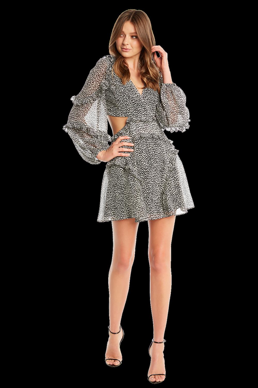 MINI LEOPARD DRESS in colour BRIGHT WHITE