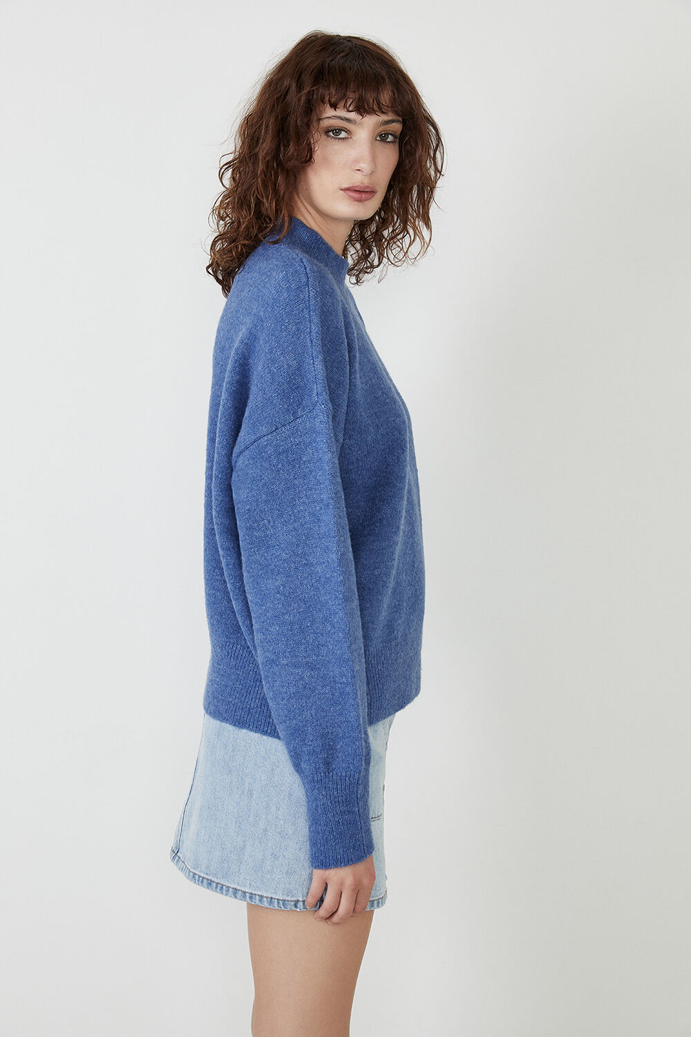 ANNIE OVERSIZED KNIT in colour HEATHER