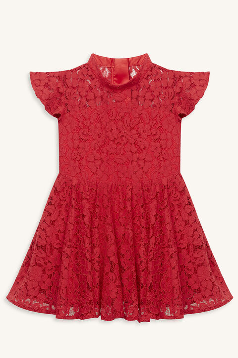 KATANNA LACE DRESS in colour LOLLIPOP