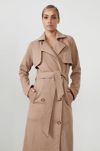 THE ORGANIC TRENCH COAT in colour TAN