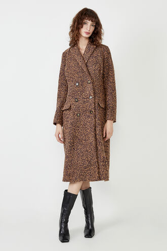 ANAIS COAT in colour HAZEL