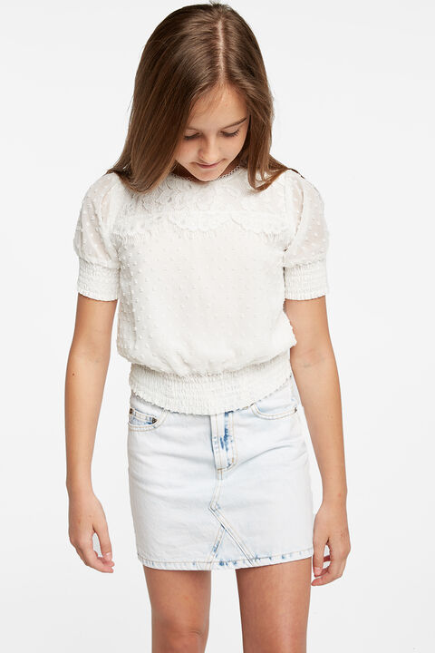 TWEEN GIRL JOSIE LACE TOP in colour JET BLACK