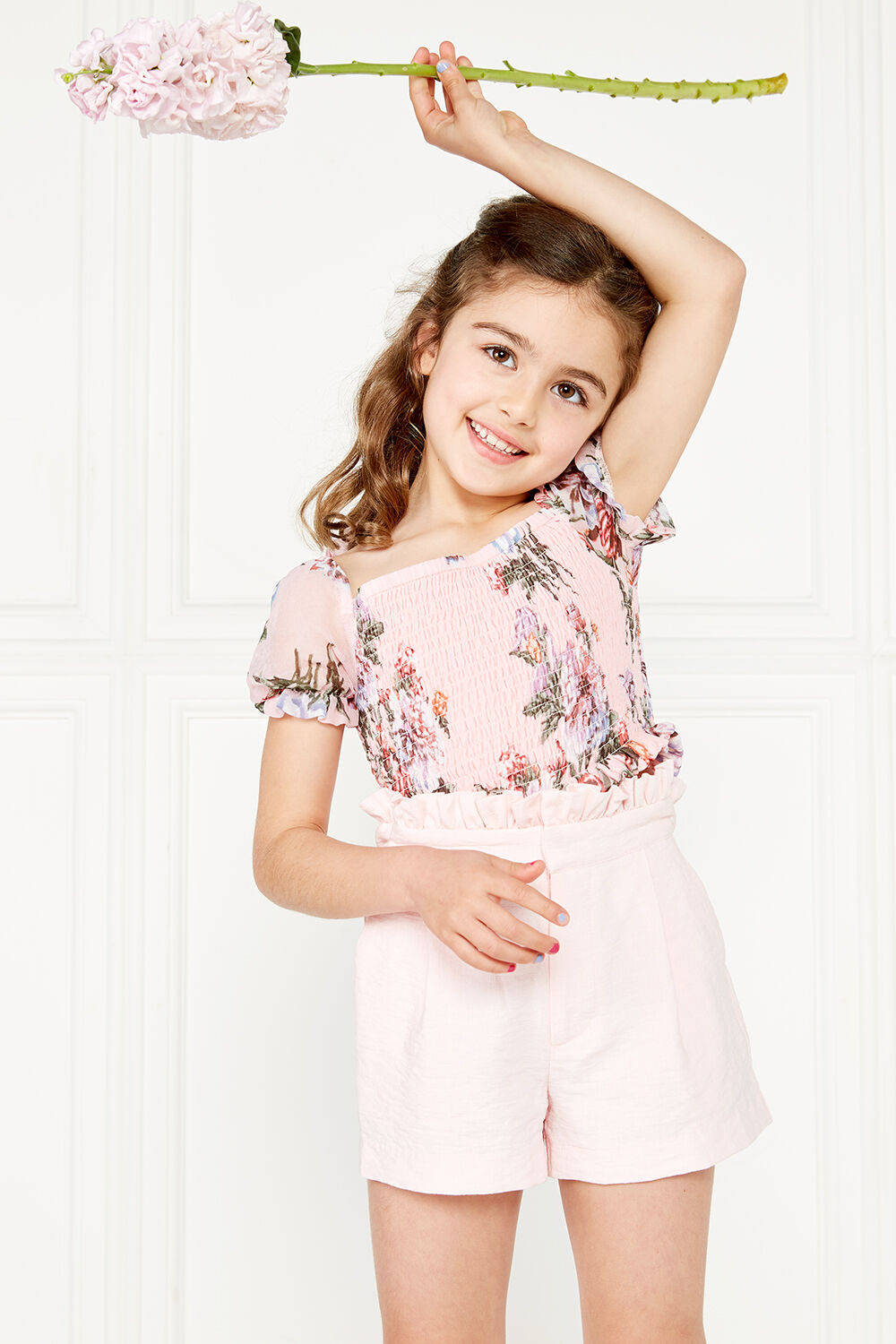 Joanie Puff Sleeve Top in colour HEAVENLY PINK