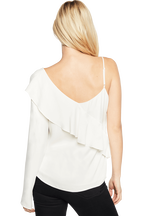 ONE FRILL TOP in colour CLOUD DANCER