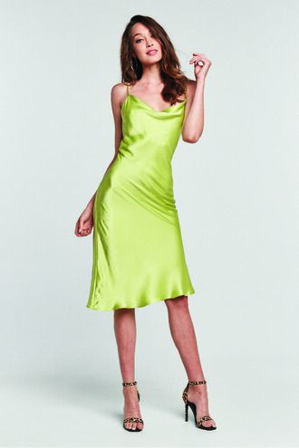 SHARNIE SLIP DRESS in colour LIMELIGHT