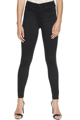 KHLOE SUPER HIGH JEAN in colour JET BLACK
