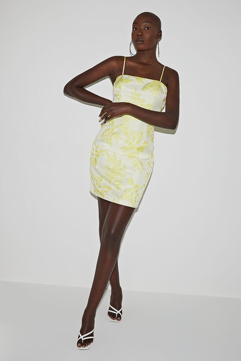 MINI PALM DRESS in colour YELLOW IRIS