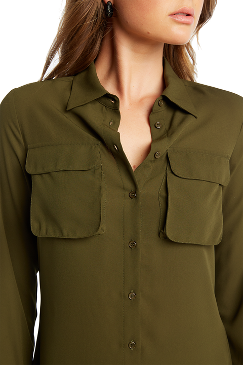 CARGO SHIRT in colour BURNT OLIVE