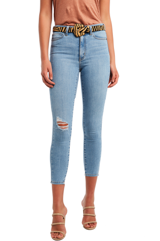 KHLOE HI CROP in colour DREAM BLUE