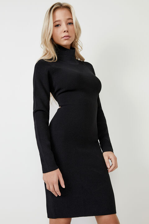 ELIN DRESS  in colour CAVIAR