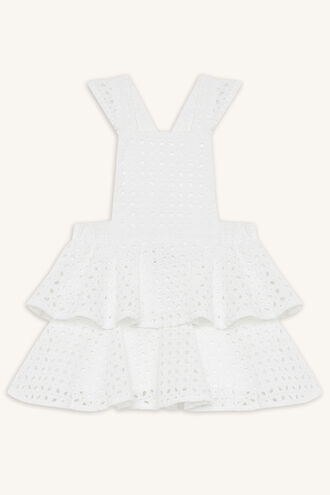 ALYCE PINAFORE DRESS in colour CLOUD DANCER
