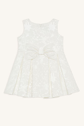 JACQUARD BOW DRESS in colour BRIGHT WHITE