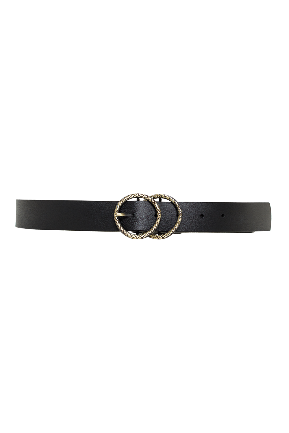 SNAKE DOUBLE CIRCLE BELT in colour METEORITE