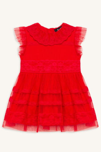 WILLA MESH DRESS in colour LOLLIPOP