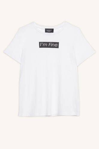 I'M FINE TEE in colour BRIGHT WHITE