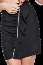 GIA RUFFLE SKIRT in colour CAVIAR