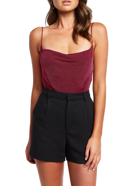 DANI LUREX KNIT TOP in colour FUCHSIA PURPLE