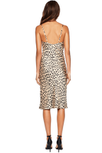 LEOPARD SLIP DRESS in colour JET BLACK