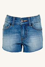 Curve Hem Denim Short in colour TRUE NAVY