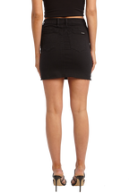 TUSK MINI SKIRT in colour CAVIAR