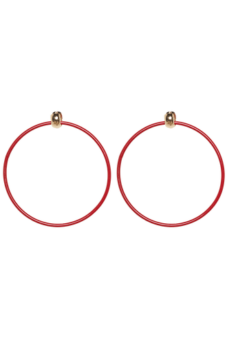 SHINE ABOUT HOOPS in colour RED BUD