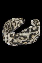 LEOPARD METALLIC KNOT HEADBAN in colour ANTELOPE