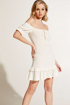 GWEN MINI DRESS in colour CLOUD DANCER