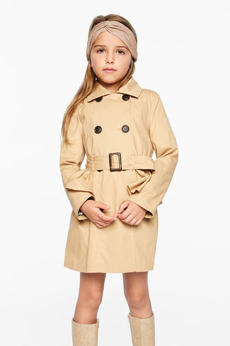 a7277a18680 SOPHIA RUFFLE TRENCH in colour TAPIOCA