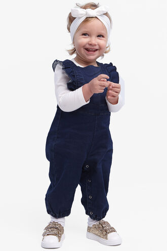 WILLA KNIT OVERALL in colour DRESS BLUES