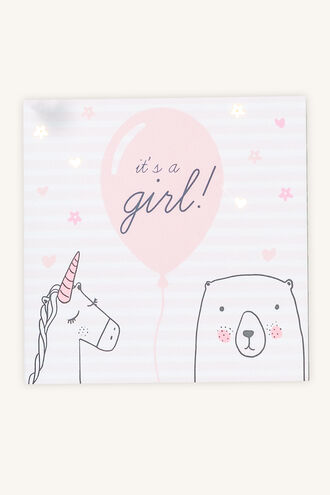 IT_S A GIRL GIFT CARD in colour PINK CARNATION