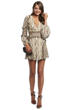 SPLICE LEOPARD DRESS in colour CAVIAR